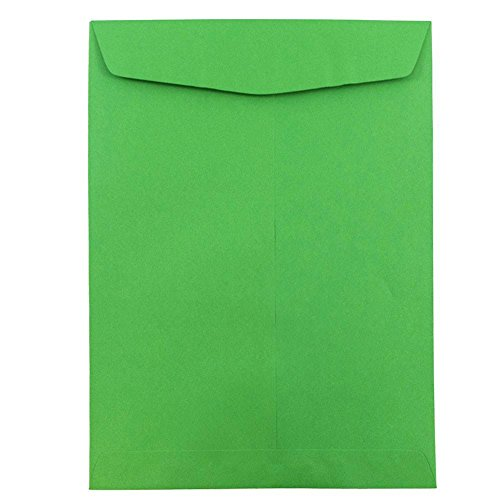 - JAM PAPER 9 x 12 Open End Catalog Colored Envelopes - Green Recycled - 100/Pack