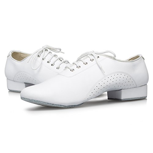 White173 Tango Ballroom Latin Men's M108 Dance Shoes Leather Social Salsa Doris nWvgaqBn