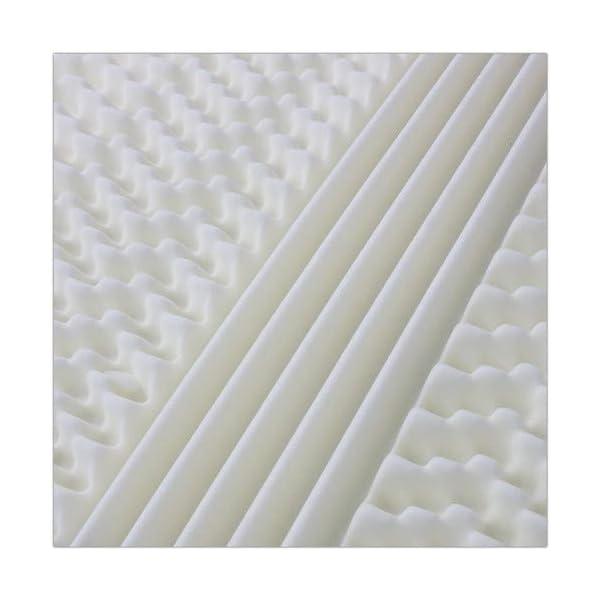 AILIME SRL Materasso sfoderabile Una Piazza e Mezza in Memory Foam 120x190x25 cm Dispositivo Medico Premium 6 spesavip