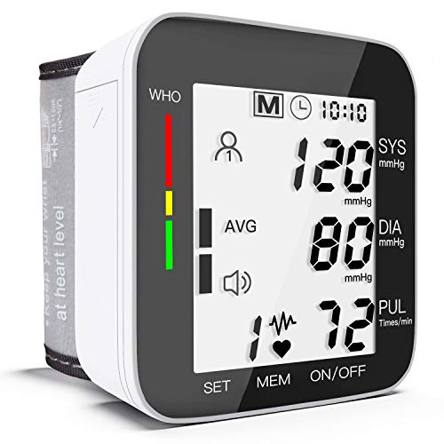 Blood Pressure Monitor Fully Automatic Accurate Wrist Blood Pressure Monitor with Wristband Automatic Wrist Electronic Blood Pressure Monitor Perfect for Health Monitoring – Black