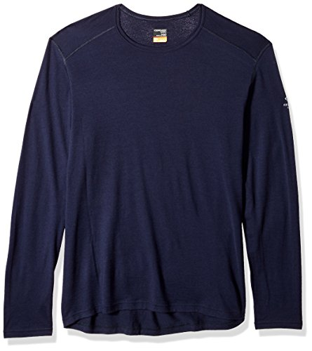 - Icebreaker Merino Men's Oasis Long Sleeve Crewe, Midnight Navy, Medium