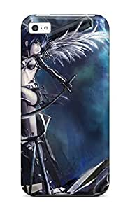 fenglinlinAwesome Black Rock Shooter Flip Case With Fashion Design For Iphone 5c