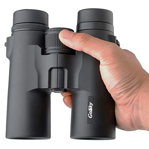 HD 8x32 Porro Prism Binoculars for Adults for Bird Watching Travelling Travel Stargazing Hunting Concert Sports Outdoor Games- BAK-4 Prism Multi-coated Lens/Large Eyepiece Design with Smartphone Adapt