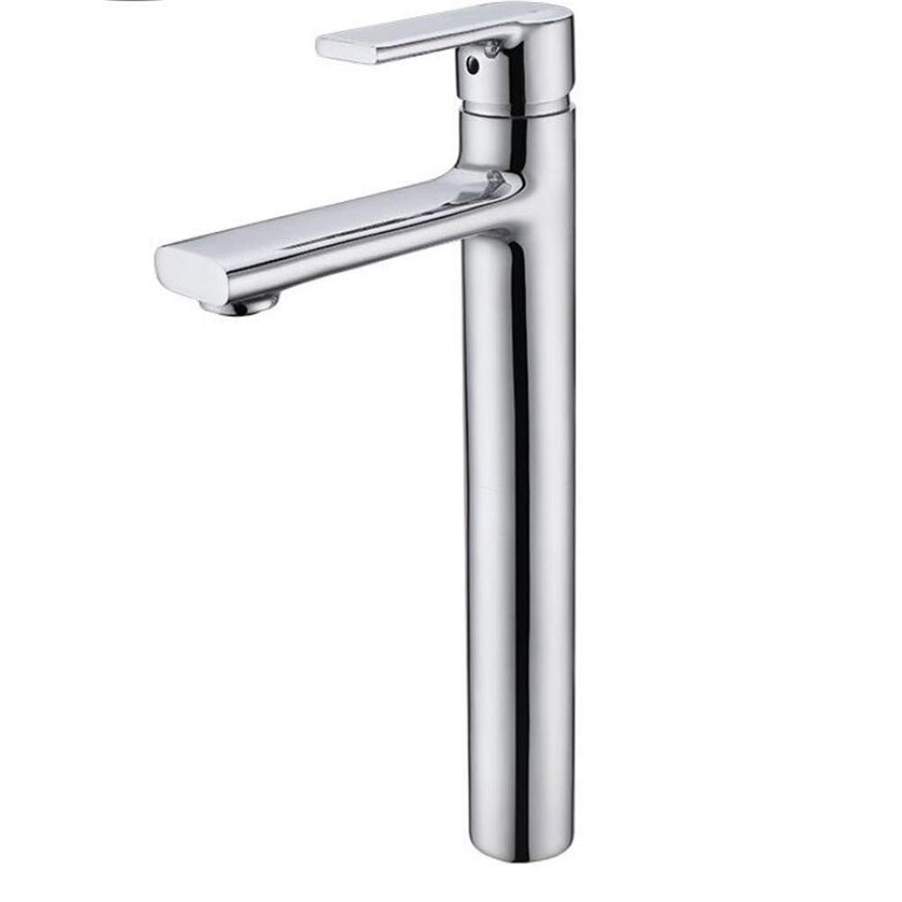 Bath Faucet High Body Hot and Cold Mixed Basin Faucet Copper Lead-Free Hotel Bathroom Cabinet greenical Above Counter Basin Sink Faucet