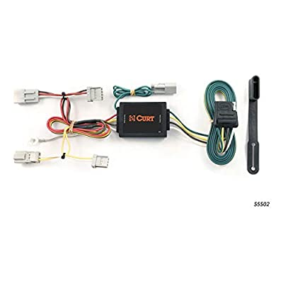 CURT 55502 Vehicle-Side Custom 4-Pin Trailer Wiring Harness for Select Honda Accord, Acura TSX: Automotive