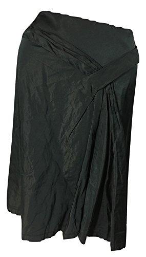 Elie Tahari Women's Lelia Pleated Knee-Length Skirt, Black, 2
