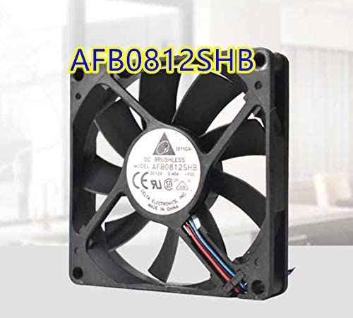 Bomin Technology for Delta AFB0812SHB 12V 0.40A 3-Wire 8CM 8015 Dual Ball Chassis Fan