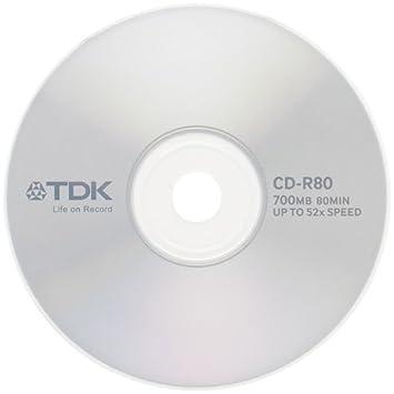 1 x Single Original-TDK CD-R80 RECORDABLE BLANK MEDIA. CD-R80CBA