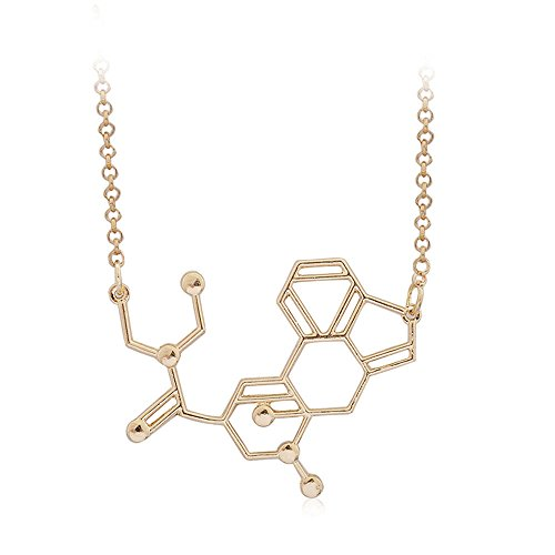 TenDollar Necklace Biological Structure Formula Necklace Necklace Fashion Accessories By TenDollar (Gold)