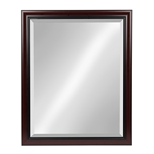 (Kate and Laurel Dalat Framed Wall Mirror, 26x32, Cherry)