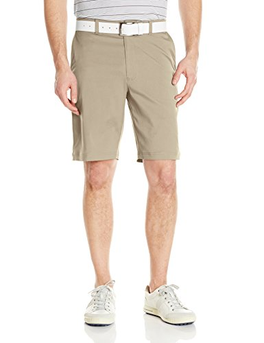 PGA TOUR Men's Motionflux 360 Stretch Flat Front Active Waistband Short, Silver Lining, 34