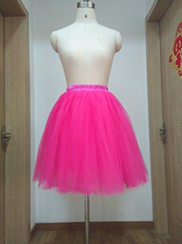 SCFL falda del ballet de la enagua del enaguas de la falda medio RoseRed