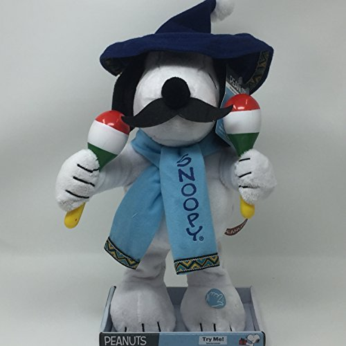 Snoopy Dancing - Mariachi Snoopy Animated Singing and Dancing Plush - Sings Feliz Navidad