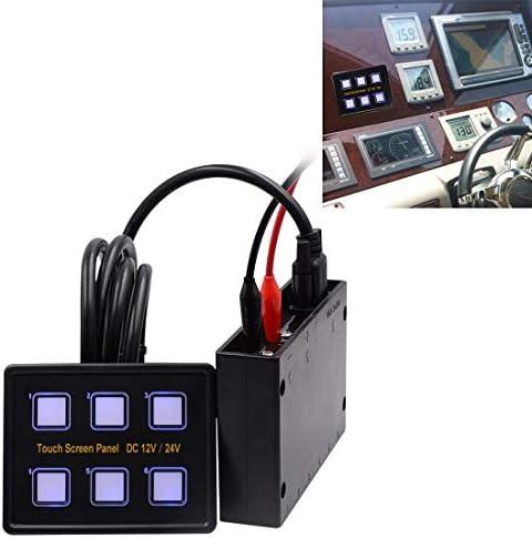 車のボタンのプッシュスイッチ 6ウェイカーRVマリーンボートのために、タッチスクリーン多機能コンビネーションスイッチパネルスイッチ