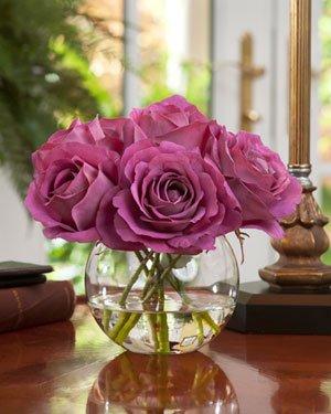 Silk Rose Nosegay Arrangement - Mauve Lavender