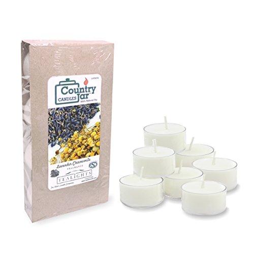 - Country Jar Lavender Chamomile Soy Tea Light Candles (8-Pack/.75 oz. ea.) Spring Pick-3 Sale! See Details.