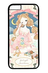 Cartoon Girl Slim Hard For Ipod Touch 4 Case Cover Case PC Black Cases