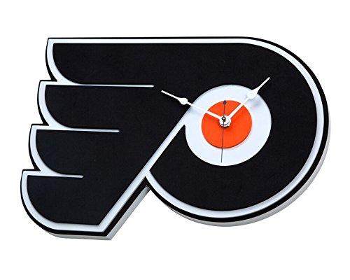NFL Philadelphia Flyers 3D Foam Wall Clock, One Size, Black