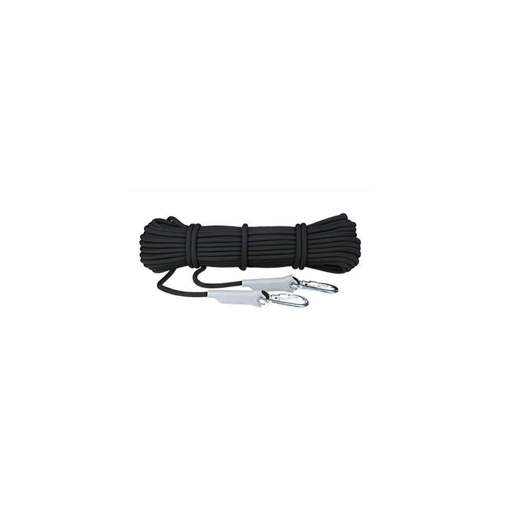 クライミングロープ 厚さ9.5mmブラックの1100kgのポリプロピレン素材を支えることができる のロッククライミング救命ロープ (サイズ さいず : 9.5mm-40m) 9.5mm-40m  B07NTX1RZL