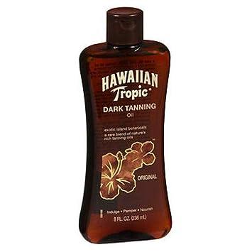 Hawaiian Tropic Dark Tanning Oil 8 Ounce 235ml 6 Pack