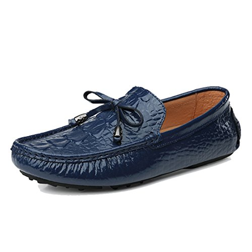 Knot Penny Loafers Synthetic Fashion Shoes Dress TDA Boat Blue Mens Slide Hiking gWpqRpExn