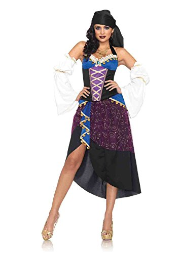 Tarot Card Gypsy Costumes (4pc. Tarot Card Gypsy Costume Bundle with Pink Shorts)