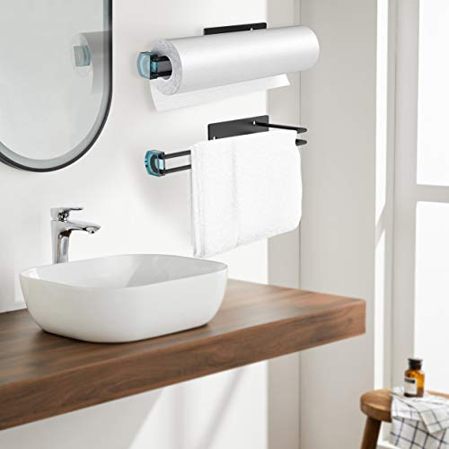 EONSIX- Kitchen Paper Towel Holder,Toilet Paper Holders for Kitchen and Bathroom Countertop. Both Available in Glue Adhesive and Screws, Installed with Easily