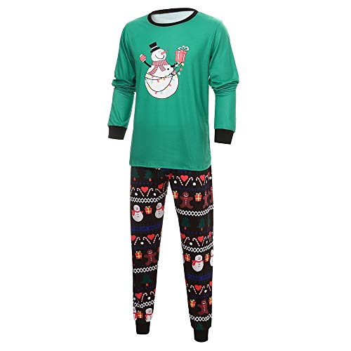 Christmas Family Snowman Printed Pajamas