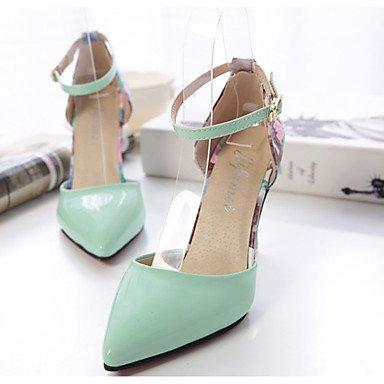 LvYuan Mujer-Tacón Stiletto-Confort-Sandalias-Informal-PU-Negro Rosa Blanco Green