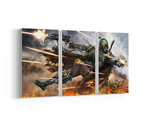 Star Wars Boba Fett Canvas, Poster, Print, Wall Art N.007 (3-Panel 42