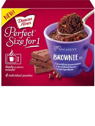 Duncan Hines Perfect Size For 1 Cake Mix Brownie