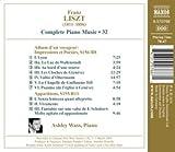 Liszt Piano Music: Album d'un Voyageur / Apparitions