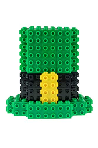 Strictly Briks 3D STEM Building Briks & Blocks Set | St. Patrick's Day Toy Compatible with All Major Brands | Lucky Leprachaun Hat Set for Kids (58 Pieces)]()