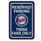 MLB Minnesota Twins Plastic Parking Sign