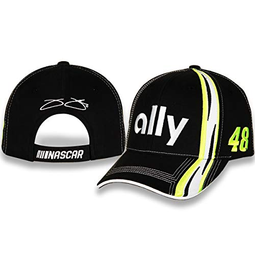 Checkered Flag Jimmie Johnson Ally 2019 Element NASCAR Adjustable Hat/Cap Black
