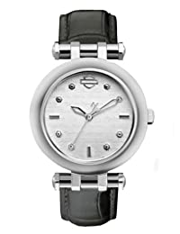 Bulova 76L168 Timepieces Women's Quartz Analog Watch with Silver White Dial and Grey Leather Strap
