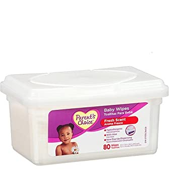 Parents Choice Baby Wipes 80 Ct Tub