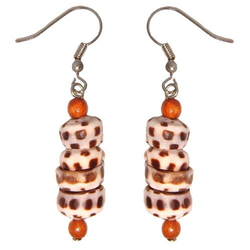 Beads Accent Shell Earrings - 8