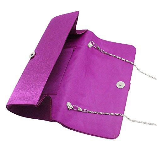 Bridal Clutch Handbag Pleated Purse red Diamante Party Lady Girl Satin Evening Wiwsi qtw6fY6