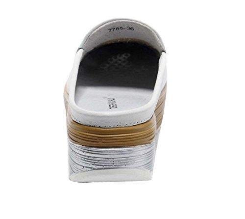 SK Studio Women's Slip-On Platform Fitness Work Out Sneaker White xCUj5Q