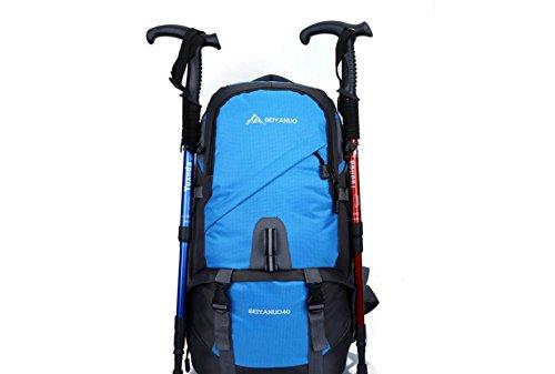 LQABW Capacidad Ultra-Light Alpinismo Al Aire Libre De Múltiples Funciones Impermeable De Los Hombres Y De Las Mujeres De Luz Con Mochila Camping Salvaje Paquete,Blue Blue
