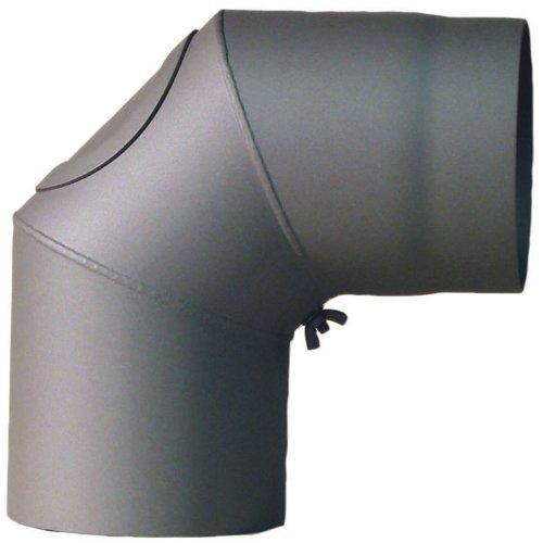 MCT FERRO3407150 Tuyau de po/êle coude /ø 150 mm 90/° avec porte Gris