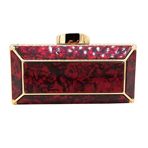 pranzo rosso borsa mo da modello borsa borse laurea acrilico borsa matrimonio frizione trasversale frizione Busta mosaico marmo sezione celebrazione stile catena 7wqU5pB