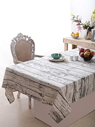 Rustic Wood Pattern Printed Table cloth of Size, 60