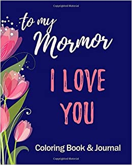 com i love you to my mormor coloring book journal