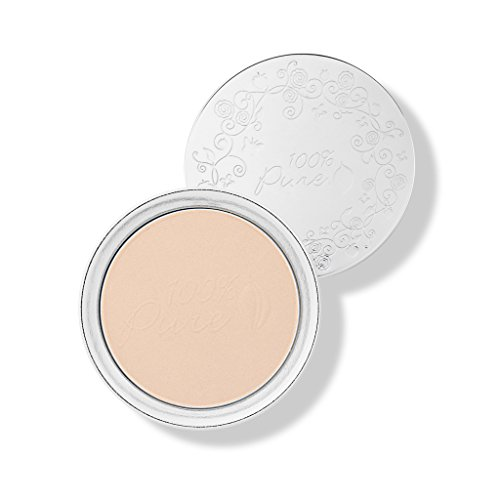 (100% Pure Healthy Face Powder Foundations with Sun Protection, White Peach)
