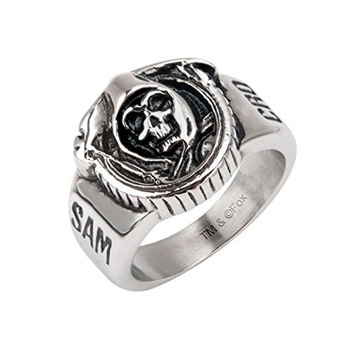 GranTodo Sons of Anarchy Grim Reaper Skull Stainless Steel Ring (9) ()