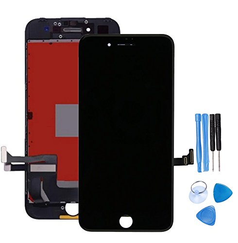 brand new 309fd 88ed5 ibaye Screen Replacement Compatible iPhone 7 Plus Touch Blcak Digitizer  Glass Lens Assembly Repair LCD +Free Clear Screen Protector ...