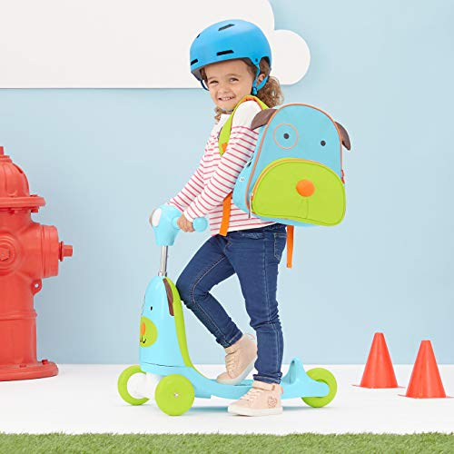 41FrIBkSScL - Skip Hop Kids 3-in-1 Baby Activity Walker & Ride On Scooter Wagon Toy, Dog