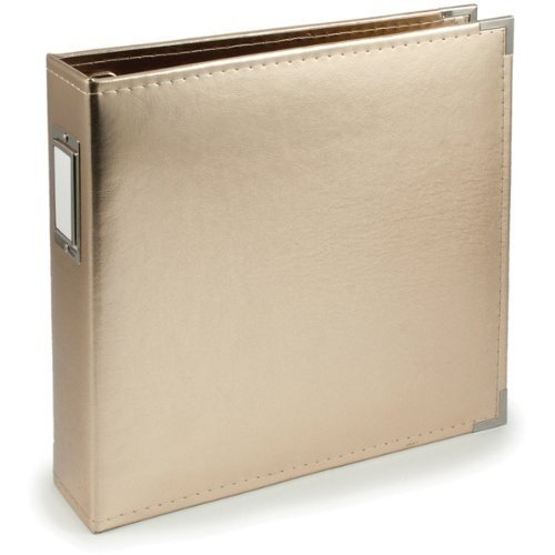 We R Memory Keepers Faux Leather 3-Ring Binder, 12 by 12-Inch, Gold (Memories Binder)